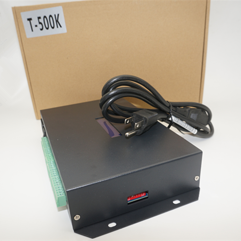 T500K led pixel module contrôleur 8 ports led de contrôle ordinateur en ligne TTL signal rvb couleur WS2801 WS2811 6812 8806 APA102