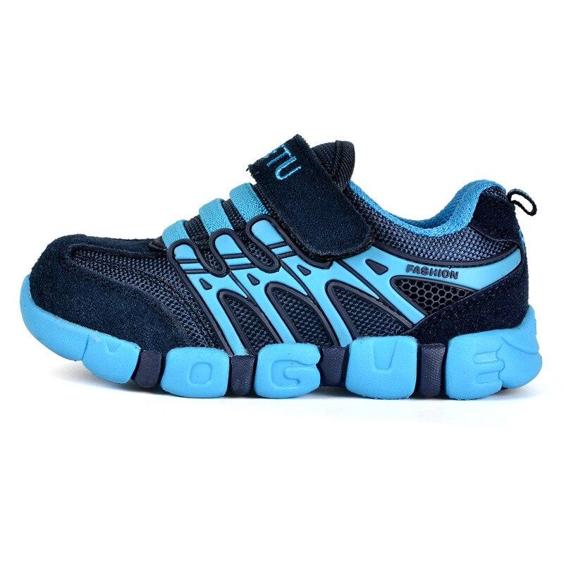 Кроссовки мальчик и девочка 2018 дышащий Открытый Спортивная Training подростков Нескользящие детская спортивная обувь Размеры 21-37
