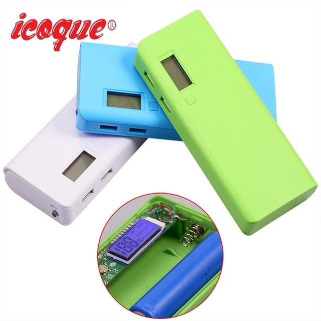 (Без аккумулятора) power Bank 20000 мАч коробка USB 2 порта 5x18650 power bank DIY чехол повербанк power Pover Bank для телефонов Xiaomi зарядное устройство