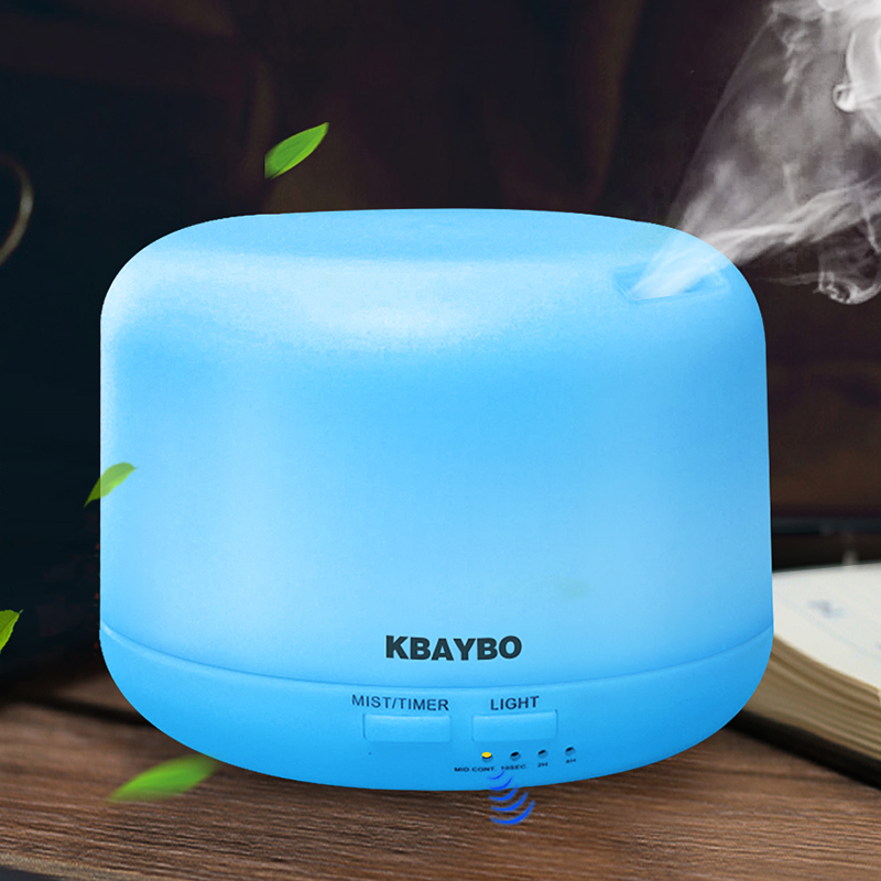 Ultralyd Aromaterapi Luftfugter Essential Olie Diffuser Air Purifier til Home Mist Maker Aroma Diffuser Fogger LED Light 300ML