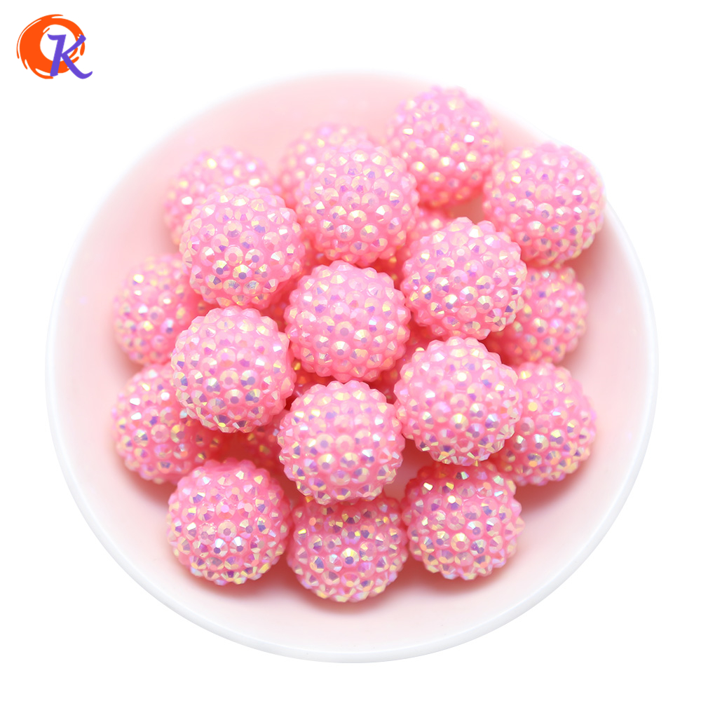 R31 Cordial Design 20MM 100Pcs/Lot Solid Color Pink Chunky Resin Rhinestone Beads Chunky Beads For Necklace Making CDWB 516020chunky beadsrhinestone beadsdesigner beads -