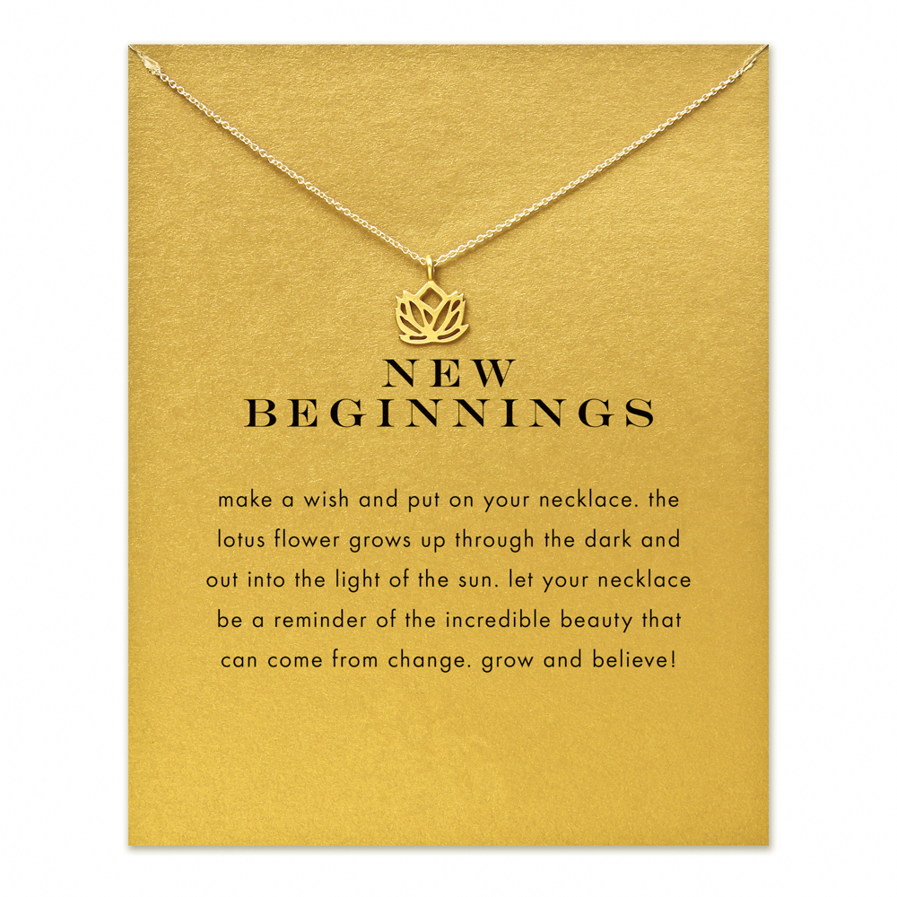 New beginnings lotus pendant necklace gold color plated clavicle new beginnings lotus pendant necklace gold color plated clavicle chains statement necklace women jewelry deal of the day deal of the day biocorpaavc