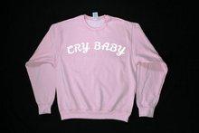 Skuggnas Cry Baby Graphic Print Unisex Sweatshirt Long Sleeve Fashion Casual Tops Crew Neck Babygirl Jumper Pink Girls Tops crew neck long sleeve christmas pockets print sweatshirt