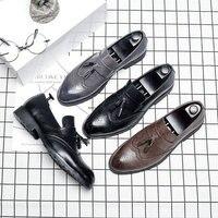 Italian Tassel Business Formal Dress Men Leather Loafer Formal Dress Flats Designer Office Oxford Shoes for Men LE 39 ZZXP3CD