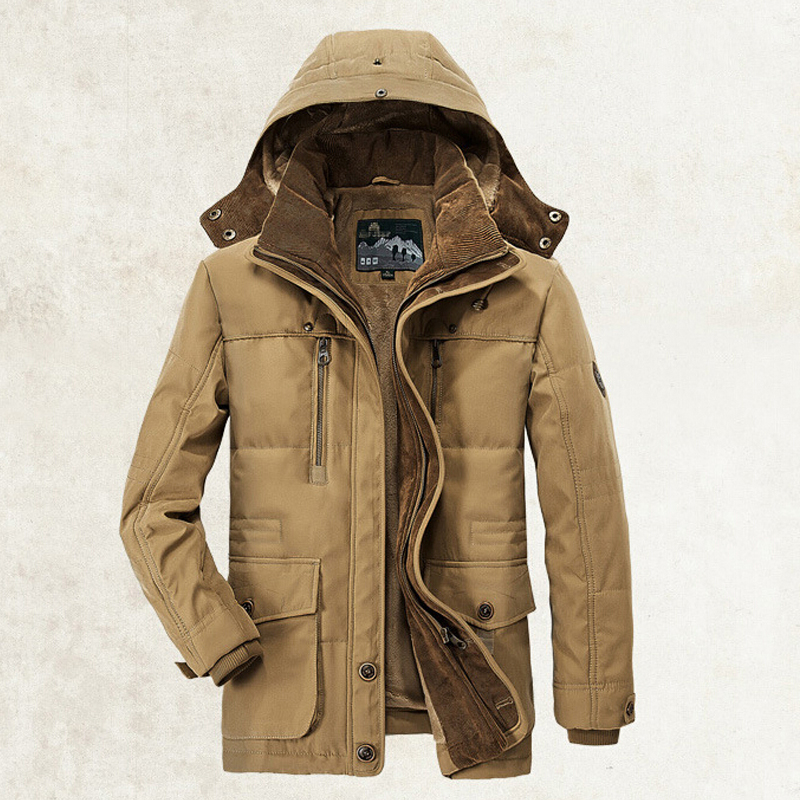 New Minus 40 Degrees Winter Jacket Men Thicken Warm Cotton-Padded Jackets Men's Hooded Windbreaker Parka Plus Size Jacket Men