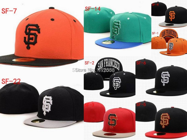 Wholesale San Francisco Giants fitted hats baseball caps 12pcs/lot  free shipping