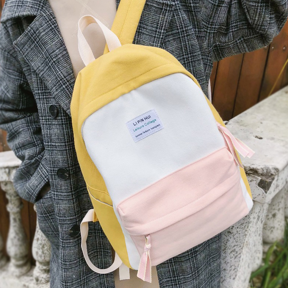 JOYPESSIE Fashion Korean Simple Cotton Backpack for Teenagers Travel Bagpack Male/Female School Backpack Stachels Rucksack-in Backpacks from Luggage & Bags