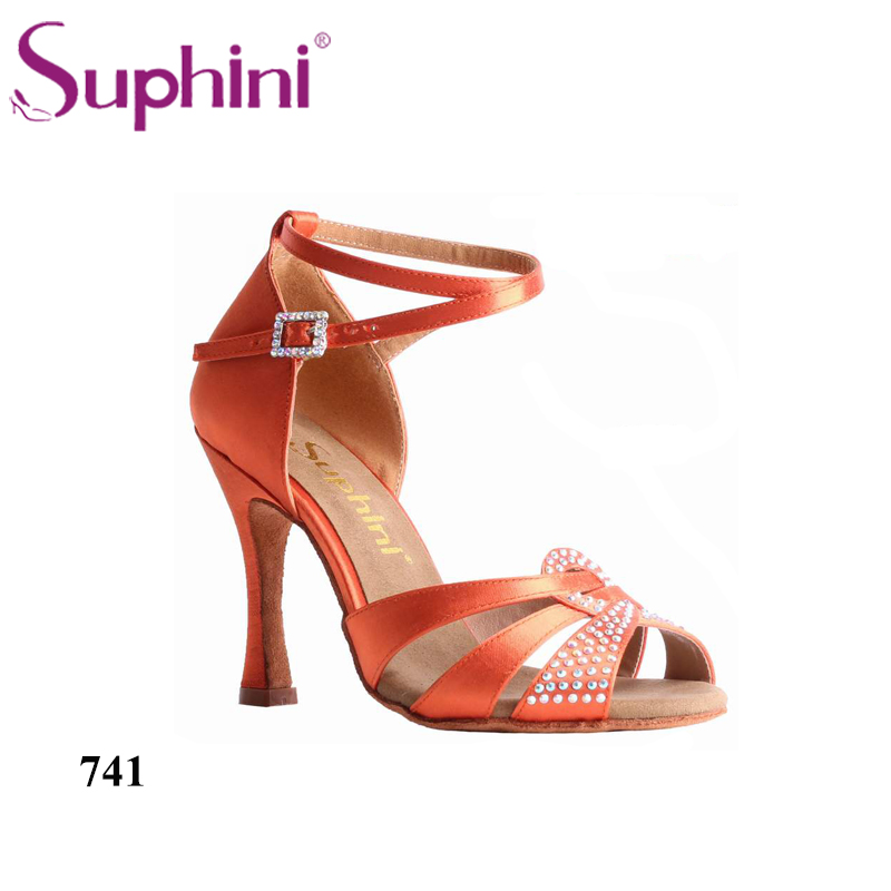 Free Shipping Suphini Classic Straps Salsa Dance Shoes Professional Latin Dance Shoes zapatos de baile de salsa free shipping 2017 suphini woman professional latin dance shoes satin dance shoe zapatos de baile