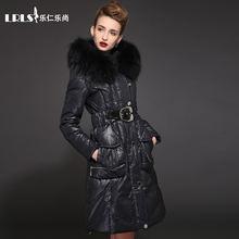 94d46b3fb59 Royalcat капюшон с натуральным мехом 2016 Зимняя куртка Женская пуховая  куртка модная Роскошная средняя-Длинная