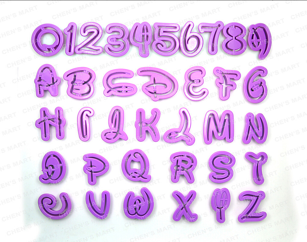 new arrival 36 pcs english letter font alphabet cookie cutter number cookie cutter set cake tool