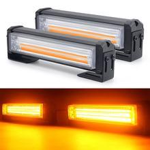 40W 80W LED COB samochód przedni grill ostrzeżenie światło na kierownicę Mini Strobe awaryjne Lightbar montaż powierzchniowy na wóz strażacki policja 12 ~ 24V