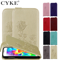 Flip Case For Samsung Galaxy S4 S5 Mini Cover PU Leather TPU Cases Covers With A