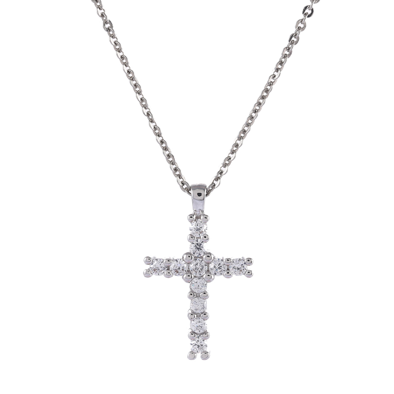 European Fashion rhinestone crosses religious pendant Necklace For font b Women b font font b Accessories