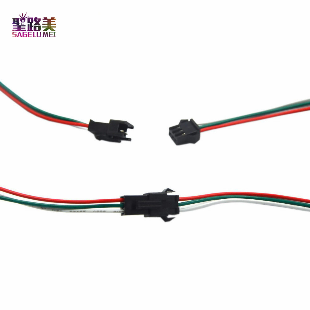 50-Pair-3pin-JST-Connector-Male-Female-Cable-Wire-for-1WS2811-WS2812B-RGB-LED-Strip-Free