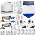 Original KERUI GSM PSTN Wifi Systems Security Home smart alarm system+1080P WI-FI External ip camera+RFID keypad+strobe siren