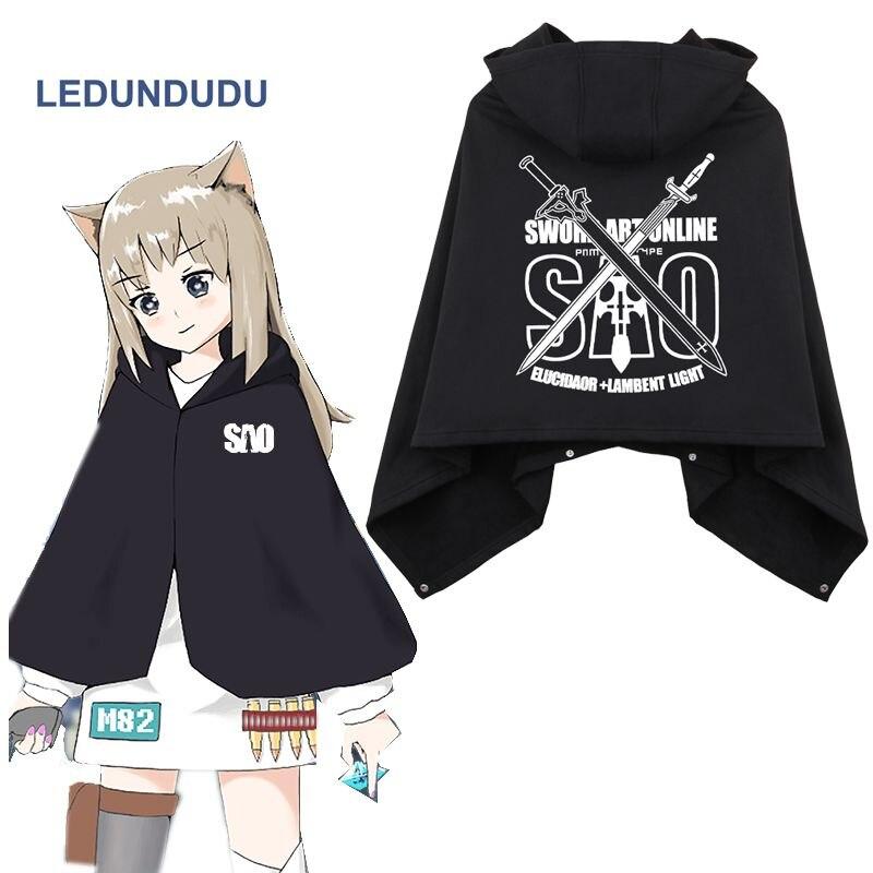 Anime Sword Art Online Cosplay Cloaks SAO Kirito Kirigaya Fleece Winter Blanket Hooded Capes Cos Costumes 8 colors