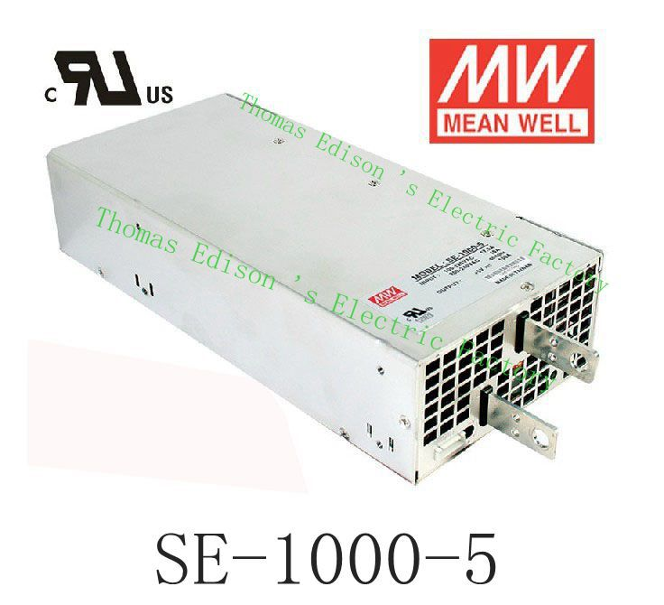 Original MEAN WELL power suply unit ac to dc power supply SE-1000-5 750W 5V 150A MEANWELL 1pcs 60w 12v 5a power supply ac to dc power suply 12v 60w power supply 100 240vac 111 78 36mm