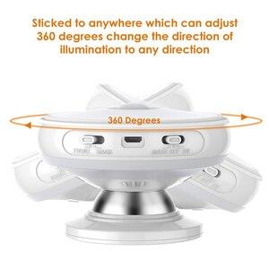 Image 4 - Motion חיישן אור 360 תואר מסתובב נטענת LED לילה אור אבטחת קיר מנורת לבית מדרגות מטבח אסלת אורות
