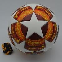 18 19 Champions League Soccer Ball Red Madrid 19 Final Balls PU high grade seamless paste skin football ball Size 5 futbol bola