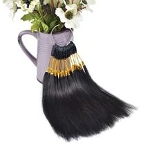 5 комплектов, 30 шт./компл. человеческих волос девственницы Цвет кольцо для Пряди человеческих волос для наращивания и салон для окрашивания волос образец, могут быть на основе красителя каких-либо Цвет