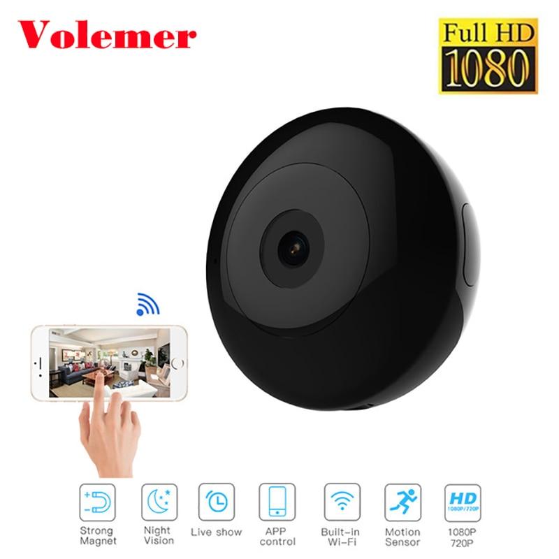 Volemer IP P2P Mini Camera Full HD 1080 P Infrarood Night Versie Monitor Verborgen DV Camera Magnetische Clip Wifi Flexibele camera-in Mini-camcorders van Consumentenelektronica op  Groep 1