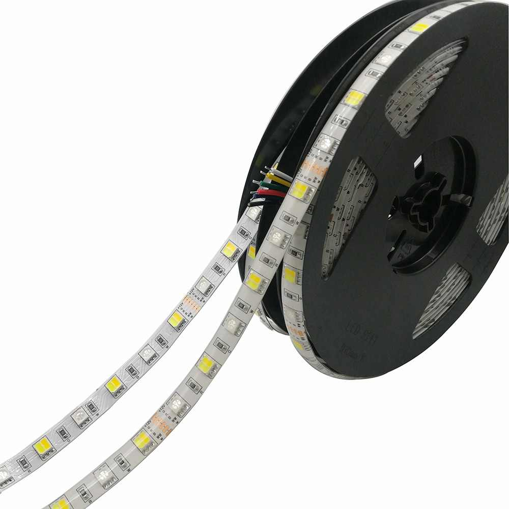 5M 5050 LED Strip RGB+CCT String RGB+CW+WW 2 in 1 Chip Color Temperature Adjustable LED Tape IP20 / IP65 Waterproof 12V 24V