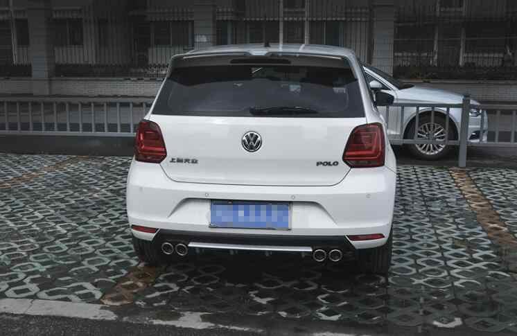 สำหรับ Polo สปอยเลอร์ 2011-2016 Volkswagen Polo สปอยเลอร์ ADG พลาสติก ABS วัสดุด้านหลังสีสปอยเลอร์ด้านหลัง