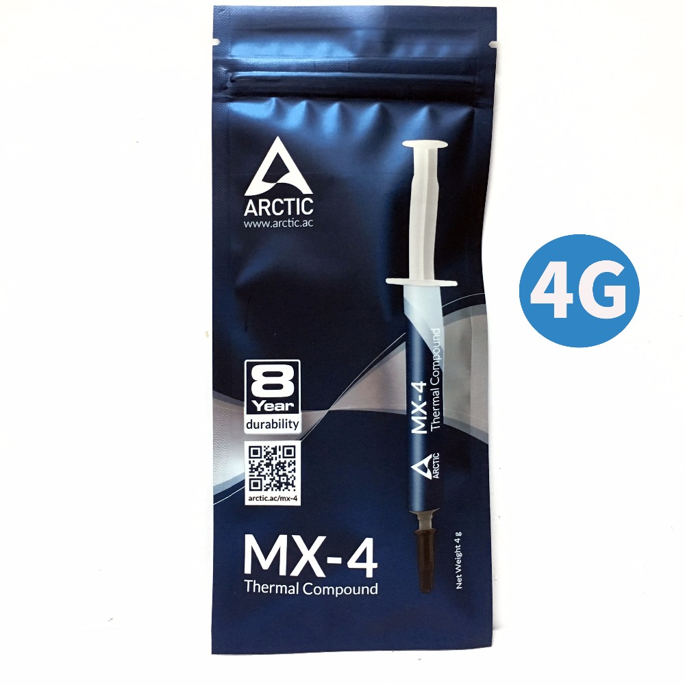 Arctic MX-4 4G procesador CPU GPU COOLER compuesto térmico grasa conductora disipador térmico yeso pasta térmica