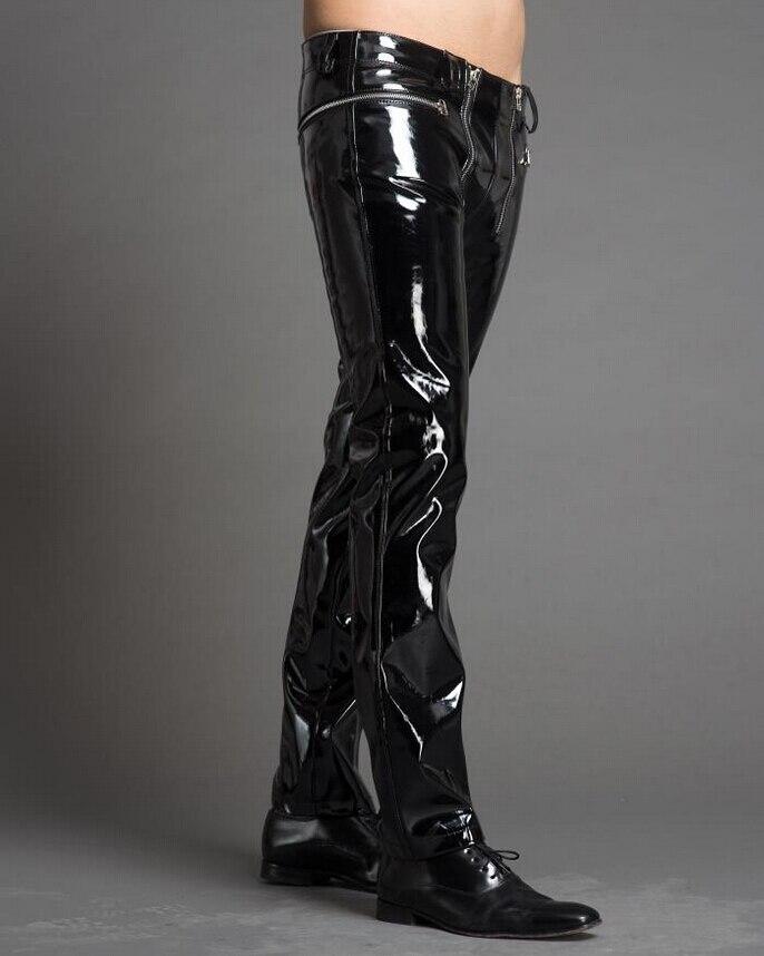 Pantalones Personalidad Cremallera Delgada Moda Negro Etapa Japanned De 29 Nueva Doble Trajes Del Cuero Hombres 39 Cantante vwqfxXH