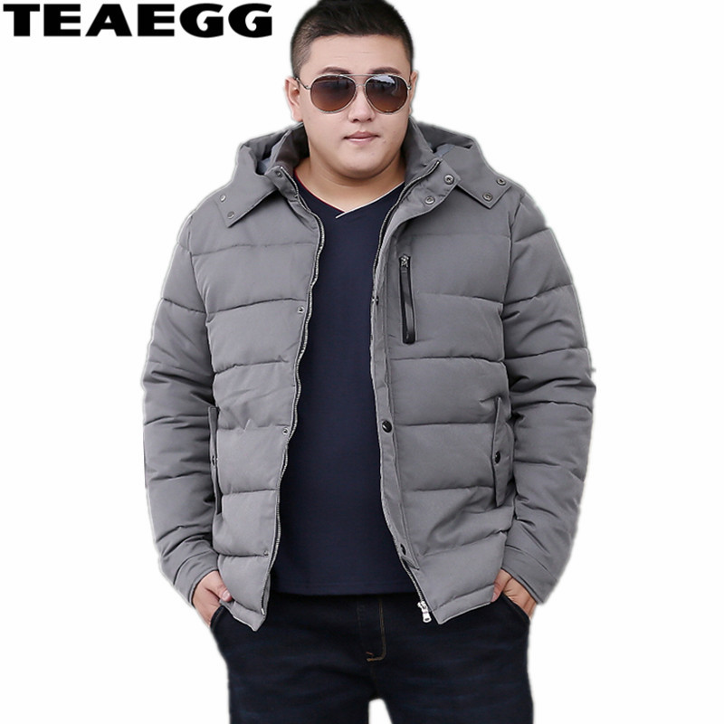 TEAEGG Man Jacket Winter Warm Parka Winter Jacket Men Coat Hiver Veste Hommes Plus Size 6XL 7XL 8XL Gray Cotton JacketsAL328 men plus size 4xl 5xl 6xl 7xl 8xl 9xl winter pant sport fleece lined softshell warm outdoor climbing snow soft shell pant