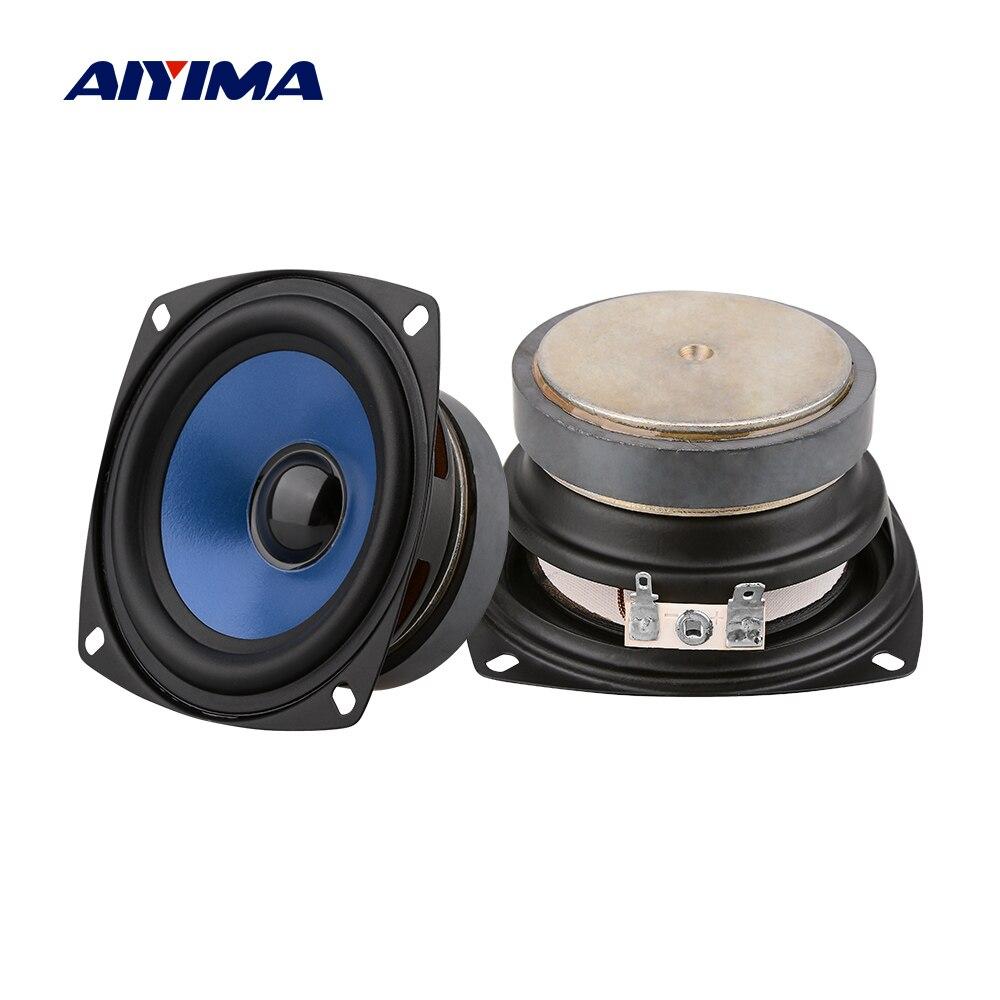 AIYIMA 2Pcs 3,5 Zoll Full Range Audio Lautsprecher Spalte Tragbare Fieber Sound Lautsprecher 4 Ohm 20 W Lautsprecher DIY heimkino