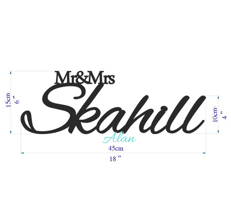 Frete grátis personalizado nome do Sr. e da senhora