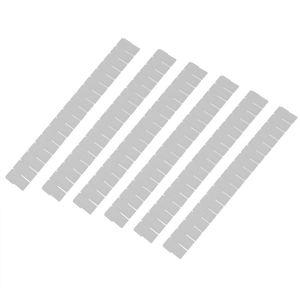 Séparateur de grille de placard 6 pièces   Nouveau, organisateur de rangement à tiroir en plastique, conteneur de rangement à la maison blanc