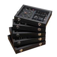 Pordoa Leather Jewelry Storage Box Fashion Jewelry Display Organizer Earrings Ring Necklace Packing Box Jewellery Holder Gifts