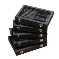 Pordoa Lederen Sieraden Opbergdoos Mode-sieraden Display Organisator Oorbellen Ring Ketting Verpakking Box Sieraden Houder Geschenken