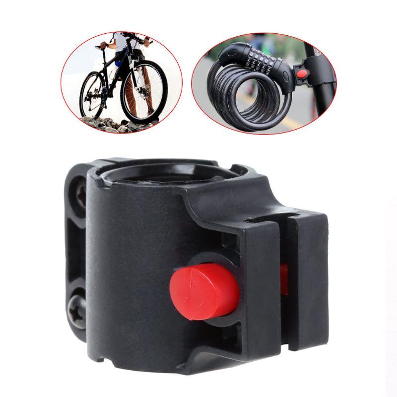 1X bike lock holder cable lock and U lock frame holder fechadura Cycling part HD