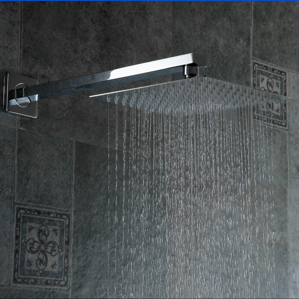 High quality 10 Stainless Steel Shower Head With Arm Wall Mounted Ultra thin Rain Shower Heads With Shower Arm ducha CP-1010A