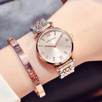Горячие простые часы женские стальные модные часы алмазные повседневные женские наручные часы 2018 кварцевые часы для montre femme женские часы