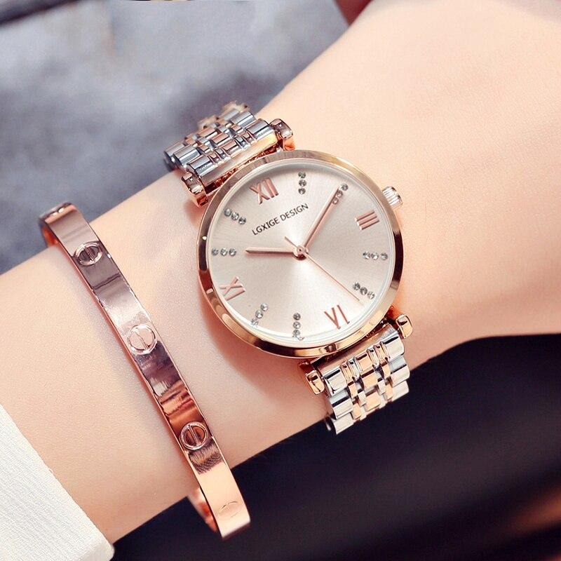 Hot Einfache Uhren Frauen stahl Mode Uhr Diamant Casual Damen Armbanduhr 2018 Quarz Uhr für montre femme zegarek damski