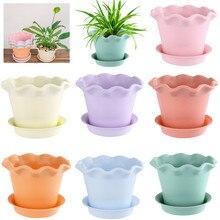 12 стилей, многоцветные мини-смоляные горшки для цветов, суккулентный цветочный горшок, садовые горшки, декоративные украшения для дома и офиса