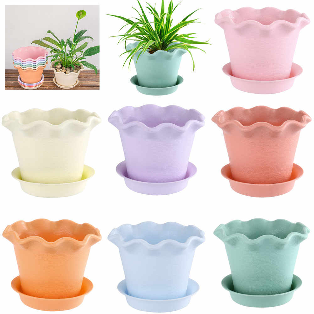 12 estilo Multicolor Mini Resina Flor Potes Suculentas Potes Plantador Do Jardim Vaso Decorativo Home Office Decor