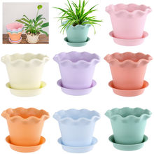 12 Style Multicolor Mini Resin Flower Pots Succulent Planter Flowerpot Garden Pots Decorative Home Office Decor(China)