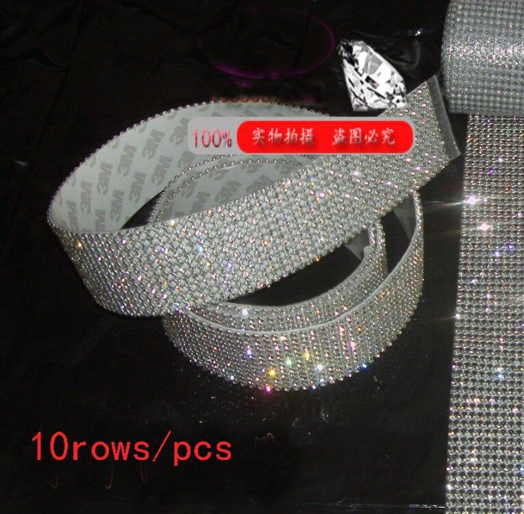 Garniture de vêtement, 10 lignes fix3mmrhinestone chaude parage, strass maille bandes avec de la colle, 10rows * 1.2 meters/pcs, 3mm strass