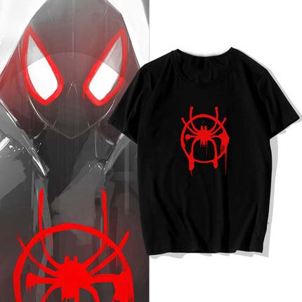 cd52eebe 2019 Film Spider-Man: Into the Spider-Verse cosplay T-shirt Fashion Miles  Morales Spider Man t shirt Cotton Men Tees tops