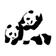 Fun Piggyback Panda Enjoi JDM DUB VAG Funny Vinyl Car Sticker Decal for Bumper Window Laptop Skateboard(China)
