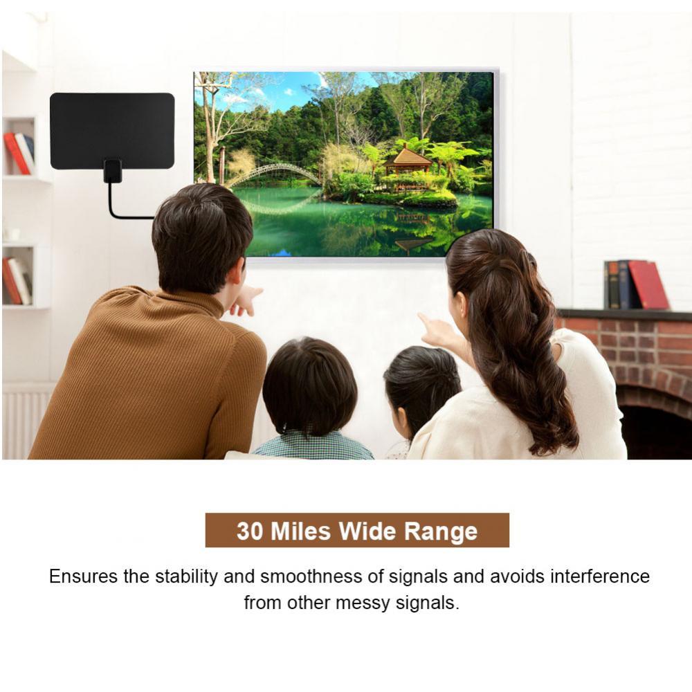 LAN-1068 30 миль UHF сигнала Extender крытый усиленный ТВ антенны ATSC 1080 P HD ультра-тонкий плоский ТВ антенны