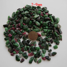 Natural red and green treasure stone original particle degaussing gravel for Buddha stones natural mineral