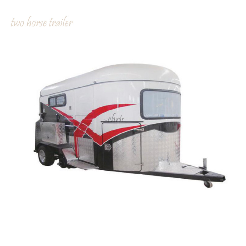 Australia Standard Horse Trailer Sales HSL-2S And HSL-2D 2 Horse Straight Load Float Horse Trailer For Sale