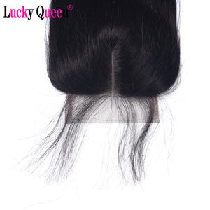 Image 5 - Lucky QueenเปรูตรงRemyมนุษย์ผม4x 4/5X5 HDปิดลูกไม้ด้วยผมเด็กPre pluckedสำหรับผู้หญิงสีดำสวิสลูกไม้