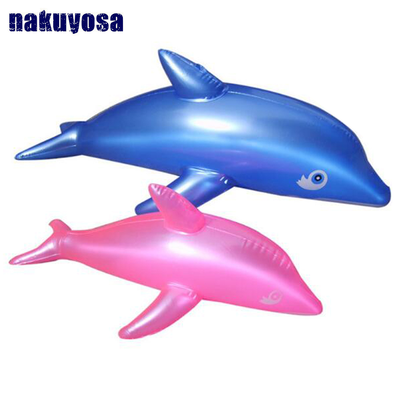 1 PC Simulation Cute PVC Blow Up Toy Inflatable Dolphin Beach Toy Bath Time 51 X 20cm Toy For Girls Boys